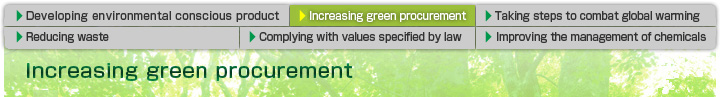 Increasing green procurement