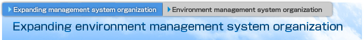 Expanding environment management system organization