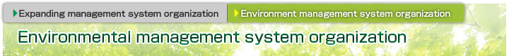 Environmental management system organization