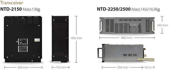 Image:Dimension Transceiver NTD-2150/NTD-2250/2500