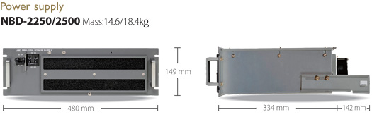 Image:Dimension Power supply NBD-2250/2500