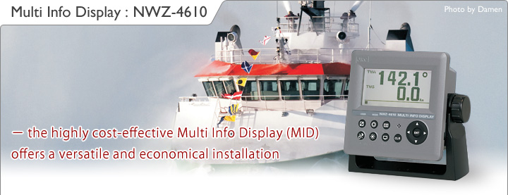 Image:Multi Info Display NWZ-4610 - the highly cost-effective Multi Info Display (MID) offers a versatile and economical installation
